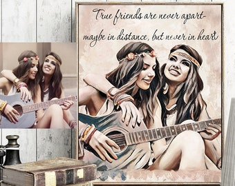 Best Friend Gift Birthday Gifts For Her Sister Women Personalized Custom Portrait Ideas
