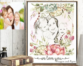 personalized mothers day gift ideas personalized gift for women anniversary gifts for women mother daughter gift custom family portrait