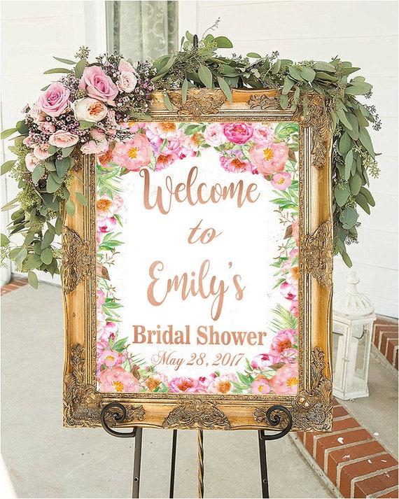 Bridal Shower Sign Bridal Shower Decorations Wedding Sign Etsy