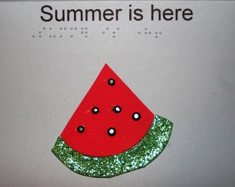 Braille Summertime Card