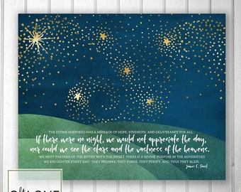See the stars quote  - Adversity, peace, blessings -  INSTANT download  8x10, 5x7, 4x6 size