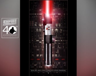 Star Wars Darth Vader's Lightsaber Empire Strikes Back Art Print by Herofied / Material Options include Metal, Canvas, & Acrylic