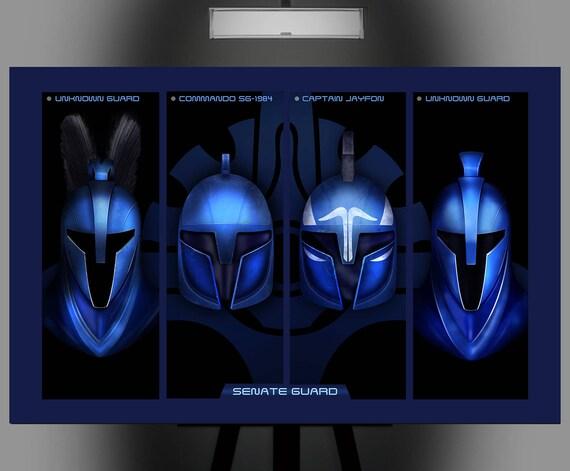 Star Wars Inspired Senate Guard 11x17 Art Print Etsy
