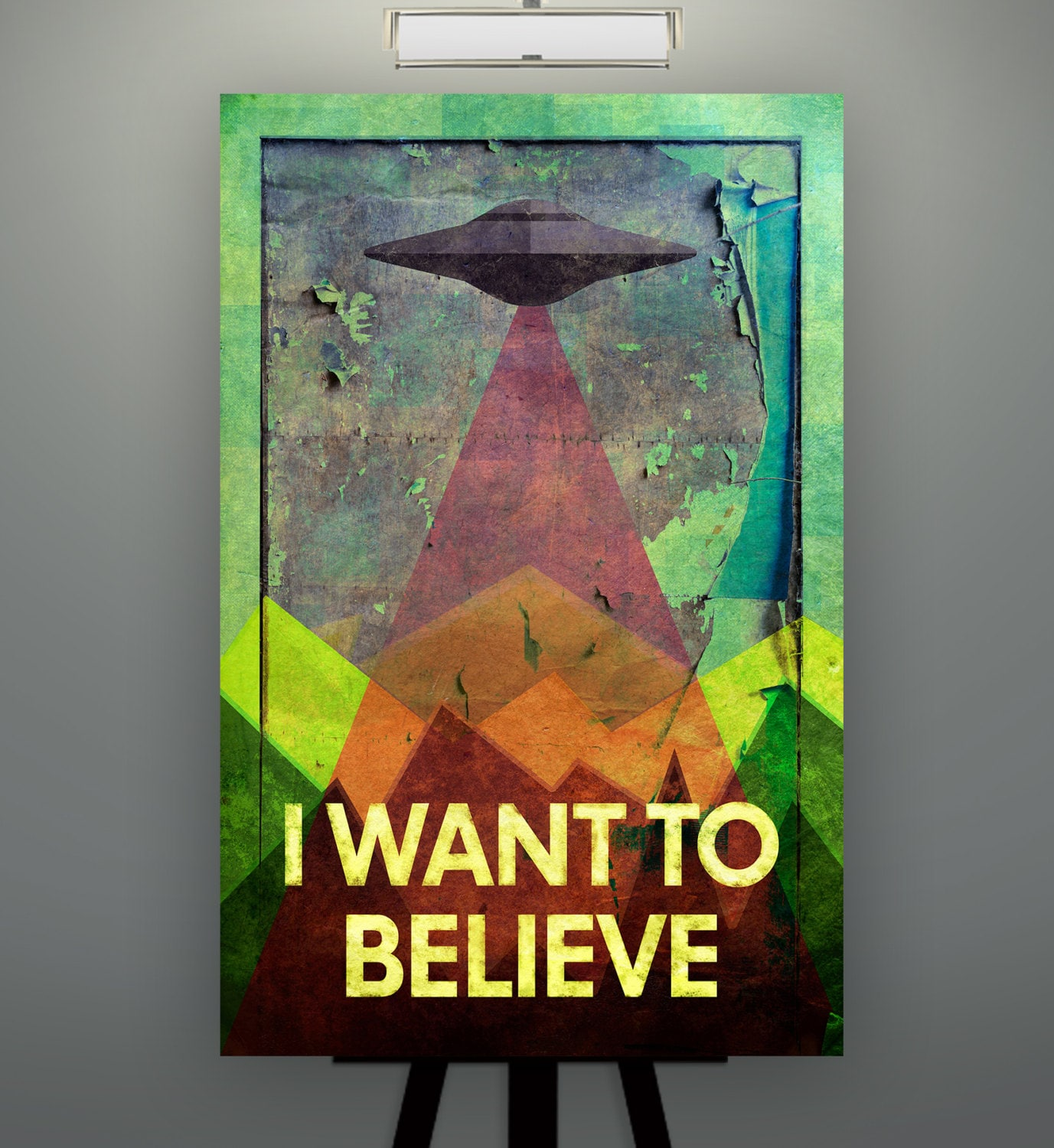 X-Files Poster print canvas X-Files i still want to believe movie film print  canvas print Illustration poster