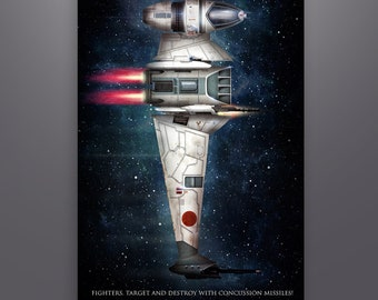"""Star Wars Inspired """"B-Wing Starfighter"""" Art Print by Herofied / Metal, Canvas, & Acrylic options"""