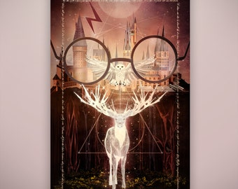 """Wizarding World inspired, """"Spellbound"""" Art Print by Herofied / Material options include Metal, Canvas, & Acrylic"""