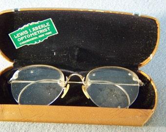 f06ff7900b2 Vintage 12 K Yellow Gold Filled classic Eyeglass Frames   Case W
