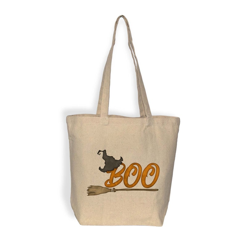 Boo Autumn Autumn Trick Or Treat Bag Halloween Bag Fall Gift Large Halloween Tote Bag Water Based Inks
