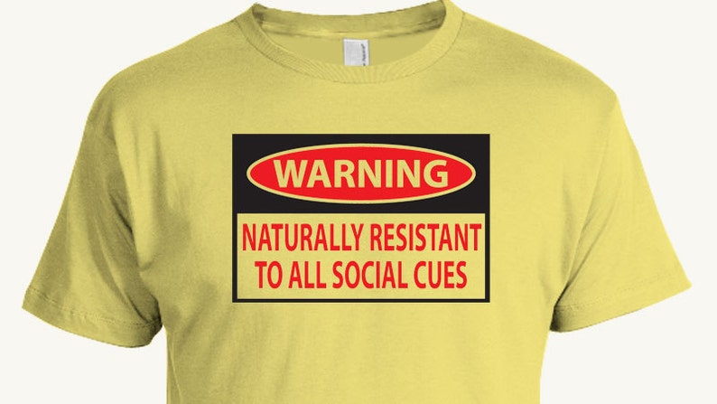 aff2f7902 Funny social awkward t-shirt Aspergers Syndrome Autism   Etsy