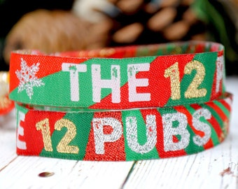 THE 12 PUBS Christmas Party Wristbands - Christmas Party Favours - Party Bag Fillers - Party Supplies - Christmas Accessories