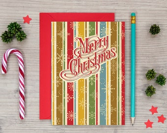 Retro Christmas Cards - Vintage Style Christmas Cards - Awesome Christmas Card