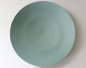 4 Available - Sasaki Colorstone Dinner Plate Vert De Gris Green Massimo Vignelli