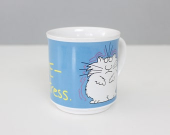 Vintage Sandra Boynton Cat Mug Stressed Out Office Mug Cup Sarcastic