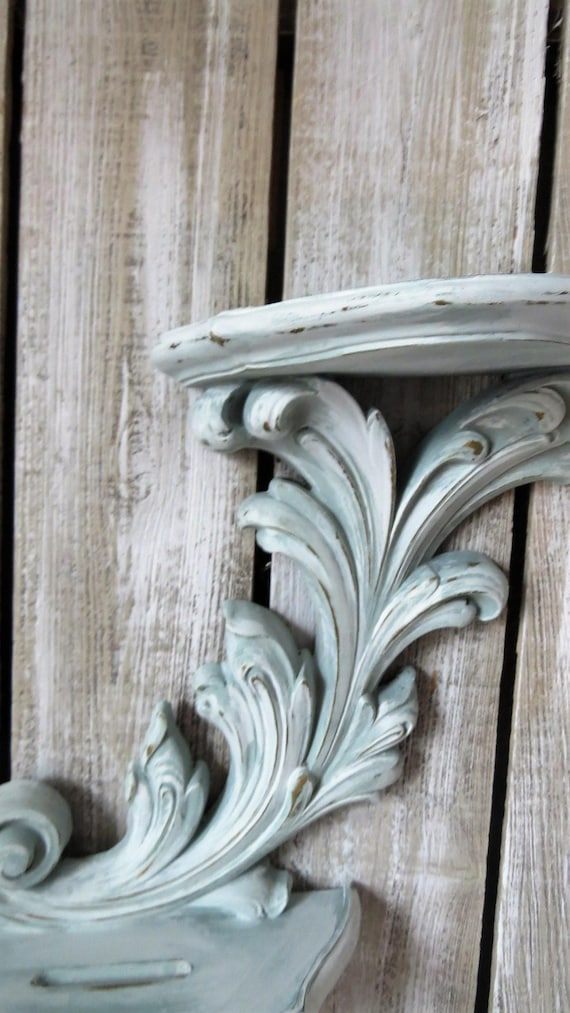 Vintage Shabby Chic Wall Sconce Distressed Ornate Wall
