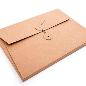 Japan folder coffee Document folder with cord closure