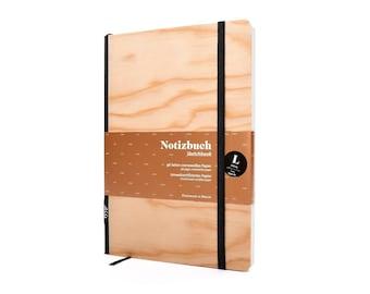 Notebook A5 Wood   Real wood veneer