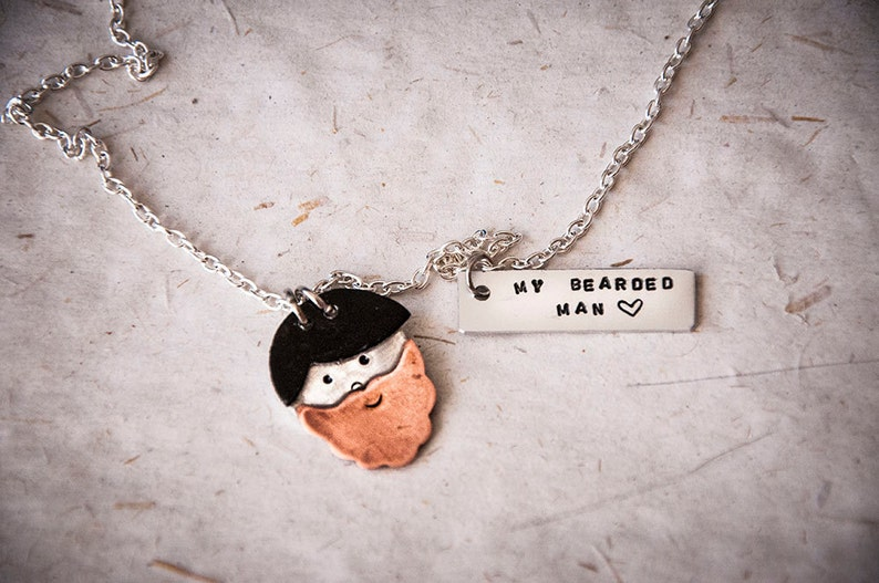 cute face necklace with handmade little face custom made Portrait necklace smiley face pendant with personalized message or red heart