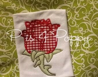 rose applique design
