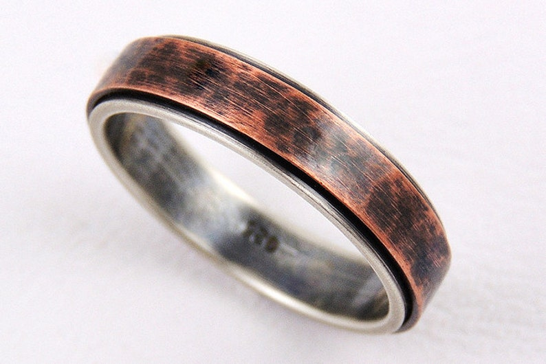 womans ring,mens ring,womens wedding ring,men engagement ring,rustic ring,rustic engagement ring,silver copper Unique 5mm wedding band