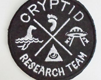 Iron-On Patch - CRYPTID RESEARCH TEAM