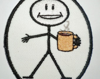 Iron-On Patch - COFFEE DRINKER