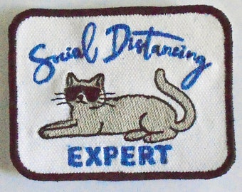 Iron-On Patch - SOCIAL DISTANCING EXPERT