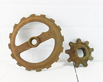 Crafts 4 Small Fan Blades Steampunk Altered Art Mixed Media Industrial Machine Age