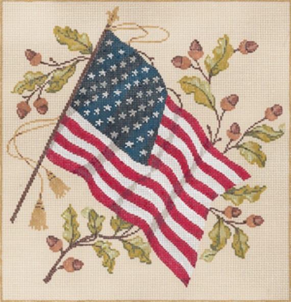 Flag Old Glory Needlepoint Kit or Canvas