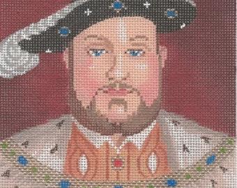 Needlepoint Handpainted Labors of Love Tudors Henry VIII 5x5 -Free US Shipping!!!