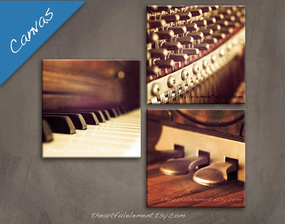 Order Now for XMAS Music room décor, Piano art, Canvas Wall art set, Musician gifts, Piano gifts, Music photography, Set of 3 / Piano set