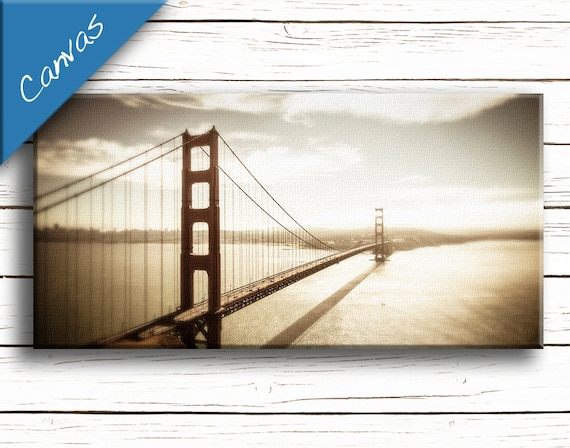 Order Now for XMAS Living room decor San Francisco art Coastal art Canvas art Home decor wall art Fine art photography / Golden Gate Bridge