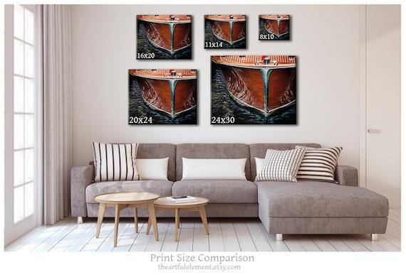 Lake House Art Vintage Wooden Boat Set of 3 Prints Nautical Decor Sepia Vintage Boat Print Set