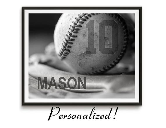 Personalized baseball gifts, Baseball art, Game room art, Canvas Sports decor, Boys room art, team gifts / Baseball