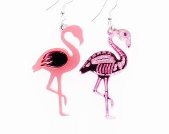 d9b6156fd Flamingo reversible earrings