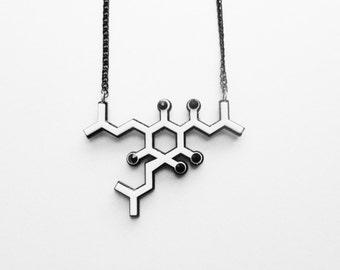 Beer - Humulone molecule necklace