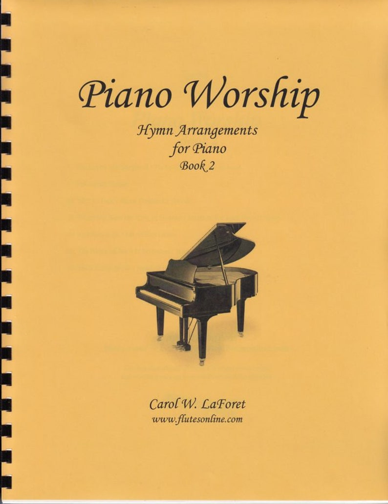 Worship Book 2 of Piano Hymn Arrangements Pieces Solo image 0