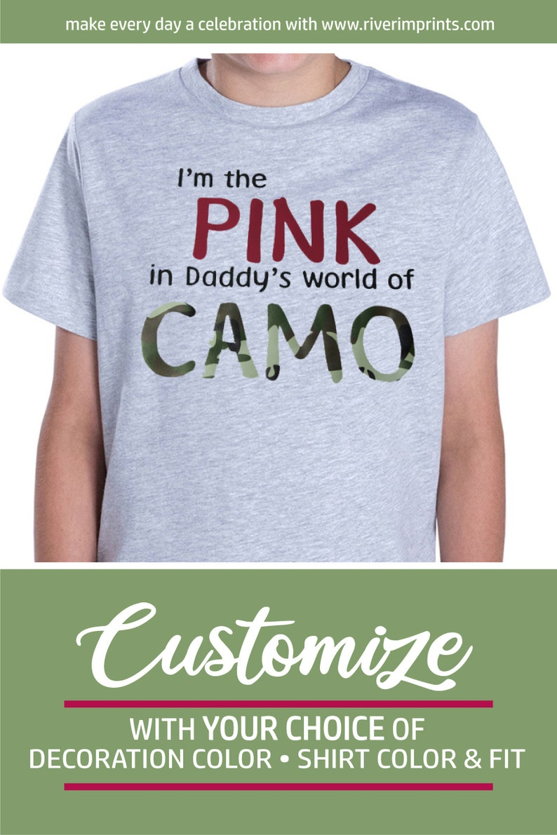 b2dffc89bb596 I'm the Pink in Daddy's World of Camo Toddler Tee | Etsy