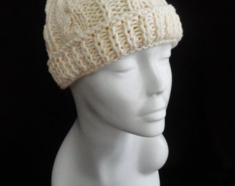 Hand knit baby hat  473676e77195