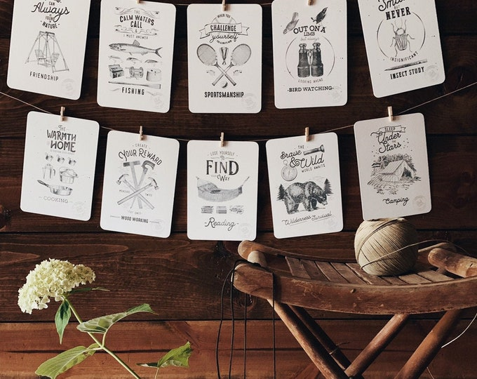 stay at home camp flashcards