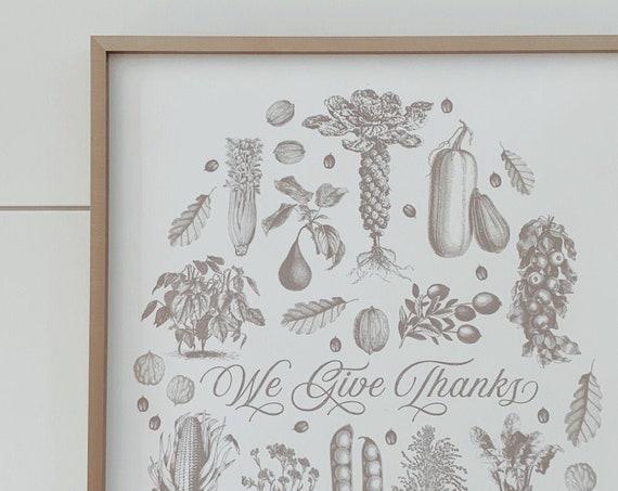 we give thanks print