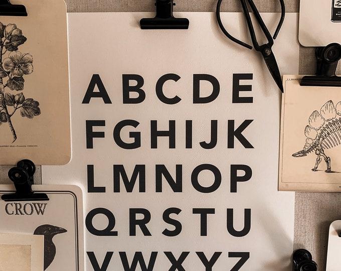 upper case alphabet print