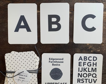 uppercase basic 26+ (mini) alphabet flashcards