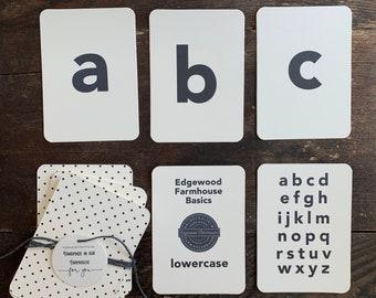 lowercase basic 26+ (mini) alphabet flashcards