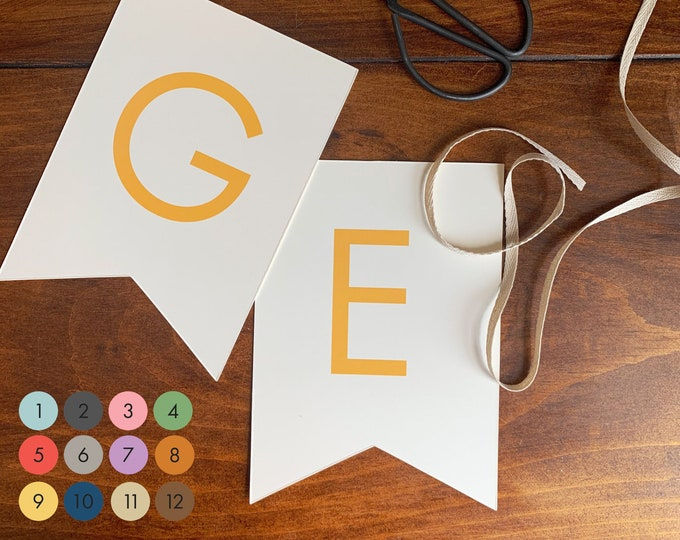 custom letter garland/ bunting (color options)