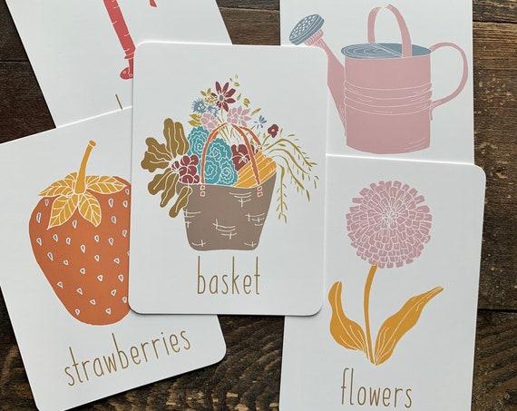 bright garden spelling flashcards