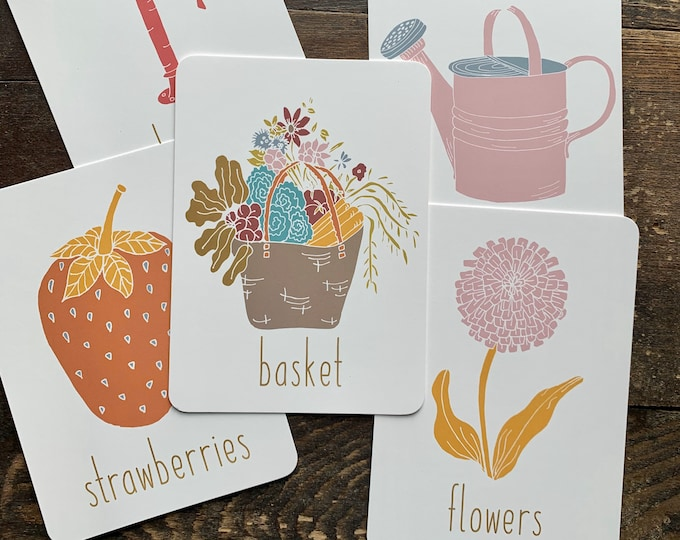 bright garden spelling flashcards