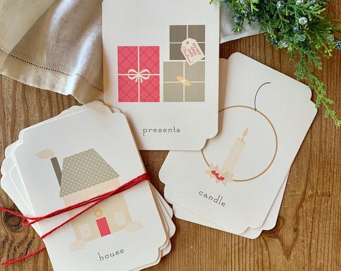 nursery Christmas flashcards