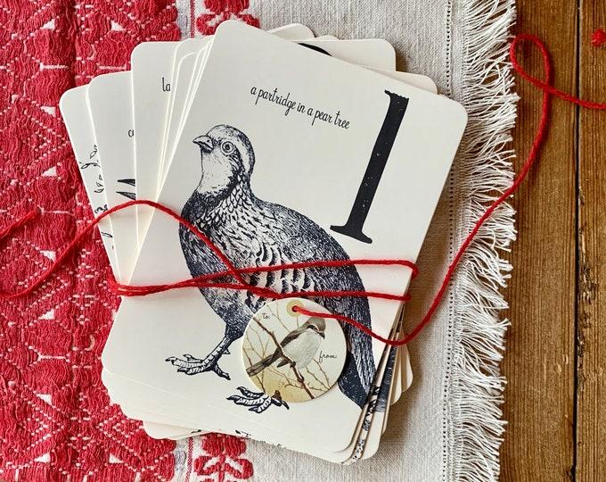12 days of Christmas flashcards