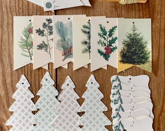 evergreen tree tags/ ornaments