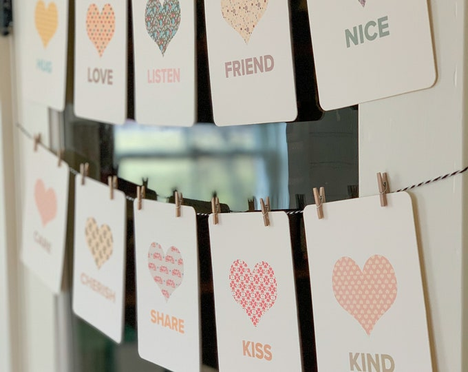 Valentine flashcards